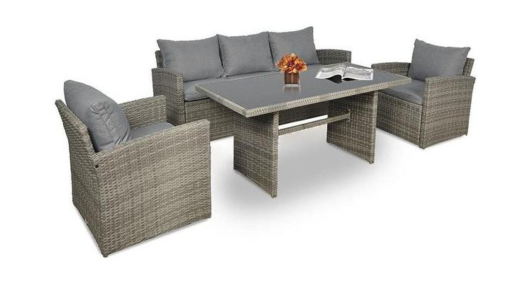 Set Mobilier Gradina Gri Bej Imagine
