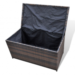 Cutie de depozitare din ratan 116 x 60 x 60 cm, Maro
