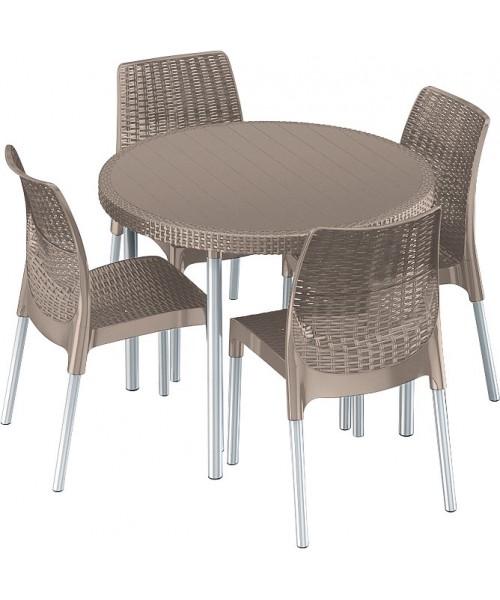 Set mobilier gradina JERSEY SET Cappuccino poza kivi.ro