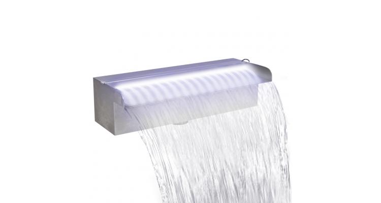 Fantana cascada cu LED pentru piscina, din otel inoxidabil, 30 cm poza kivi.ro