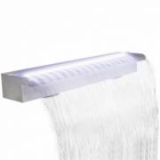 Fantana cascada cu LED pentru piscina, din otel inoxidabil, 90 cm