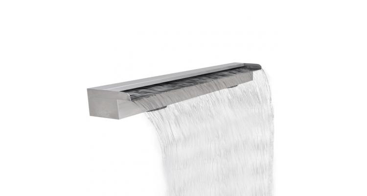 Fantana cascada dreptunghiulara de piscina din otel inoxidabil 120 cm