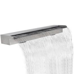 Fantana cascada dreptunghiulara de piscina din otel inoxidabil 150 cm