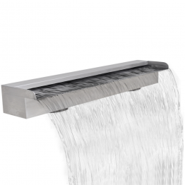 Fantana cascada dreptunghiulara de piscina din otel inoxidabil 90 cm