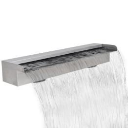 Fantana dreptunghiulara tip cascada din otel inoxidabil 60 cm
