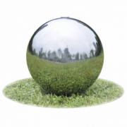 Fantana sferica pentru gradina din otel inoxidabil cu LED, 20 cm