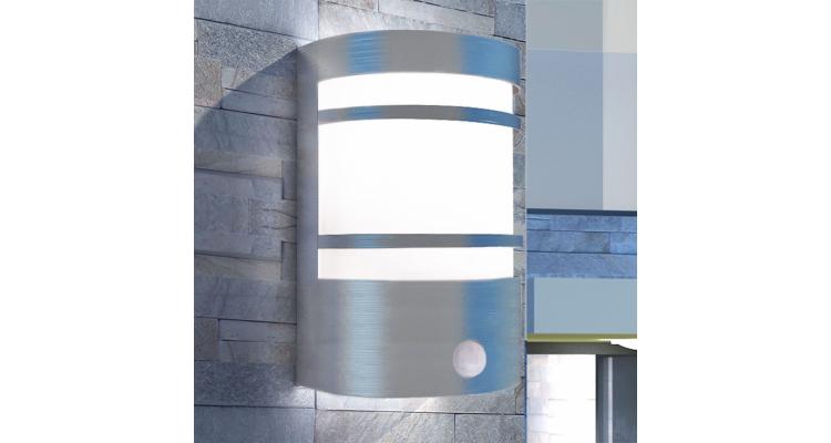 Felinar de perete pentru exterior cu senzor, otel inoxidabil