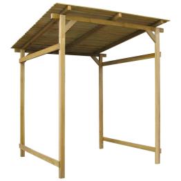 Foisor lemn cu spatiu depozitare, copertina inclinata, 180x200x200 cm