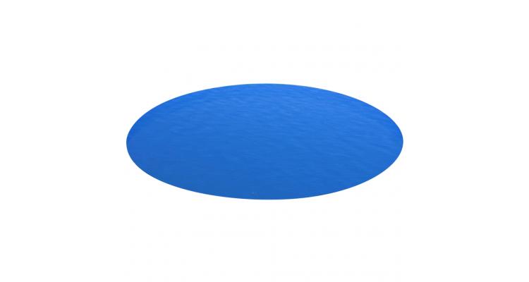 Folie solara rotunda din PE pentru piscina, 488 cm, albastru