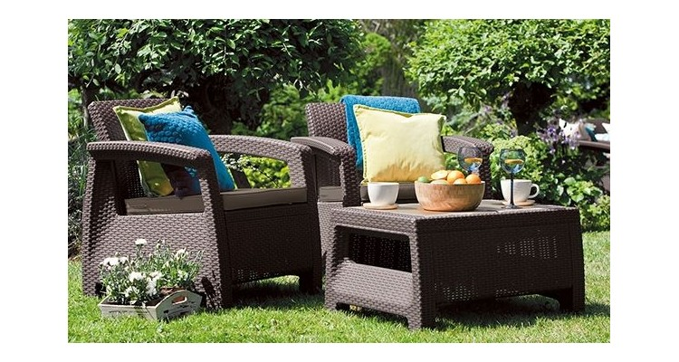 Set Mobilier Gradina Weekend Maro Gri Imagine