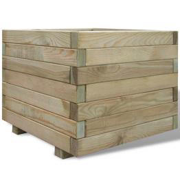 Ghiveci patrat din lemn 50 x 50 x 40 cm