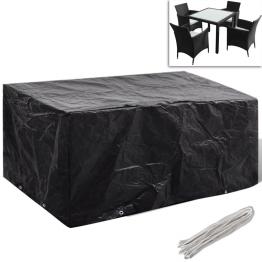 Husa mobilier gradina poliratan 4 persoane, 8 ocheti, 180 x 140 cm