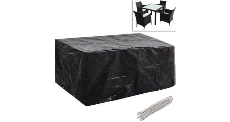 Husa mobilier gradina poliratan 4 persoane, 8 ocheti, 180 x 140 cm poza kivi.ro