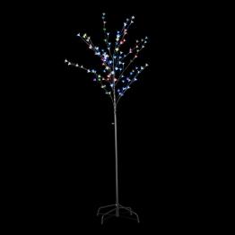 Instalatie copac cu LED-uri diverse culori 180 cm