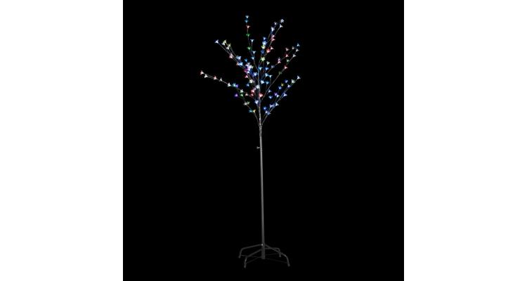 Instalatie copac cu LED-uri diverse culori 180 cm imagine 2021 kivi.ro