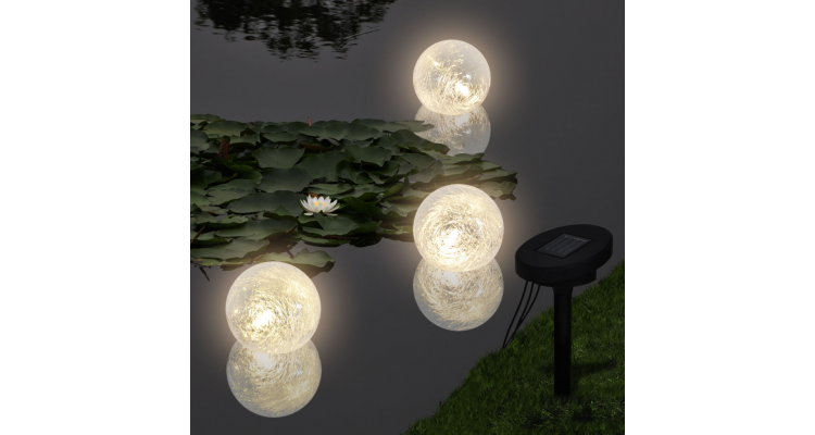 Instalatie cu LED-uri plutitoare pentru piscina