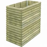 Jardiniera din lemn de pin tratat pentru gradina 106x56x96 cm