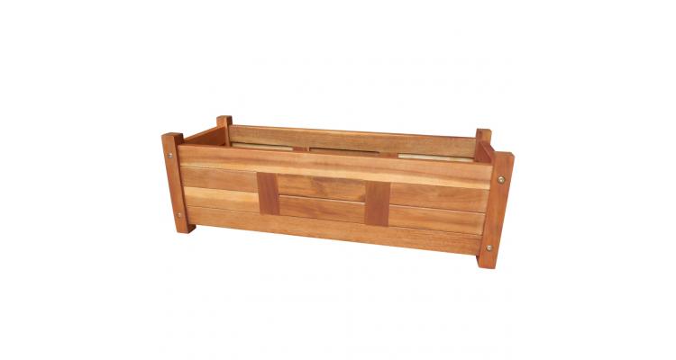 Jardiniera din lemn de salcam 76x27,6x25 cm