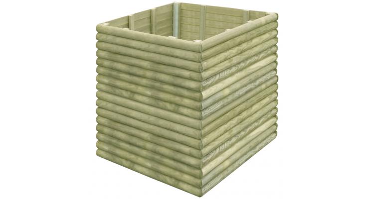 Jardiniera pentru gradina din lemn de pin tratat 106x106x96 cm