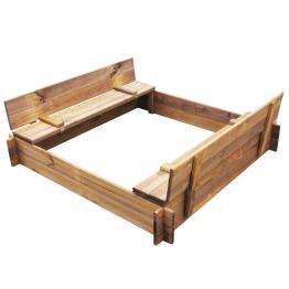 Lada de nisip din lemn tratat patrata