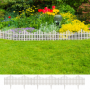 Gard pentru peluza Alb 17 buc / 10 m