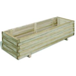 Lada dreptunghiulara din lemn pentru rasaduri 120 x 40 x 30 cm
