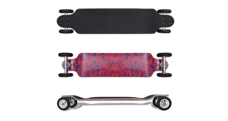 Longboard cu roti mari 103 cm Rosu