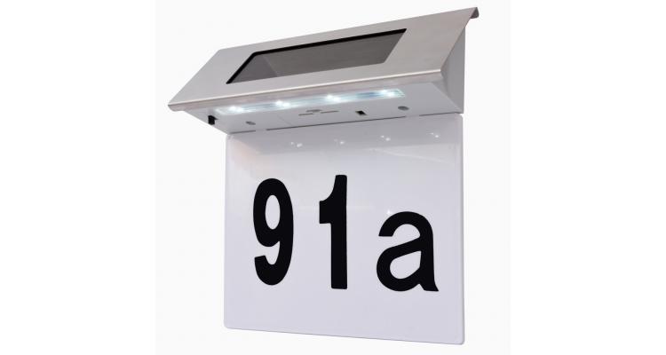 Lumina solara cu LED pentru numarul casei, otel inoxidabil imagine 2021 kivi.ro