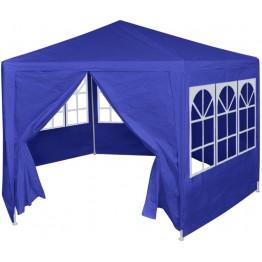 Marchiza cu 6 pereti laterali, 2 x 2 m, albastru