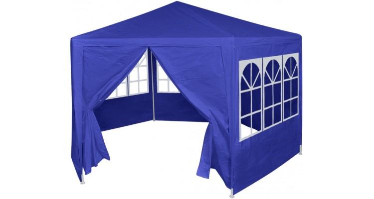 Marchiza cu 6 pereti laterali, 2 x 2 m, albastru poza kivi.ro