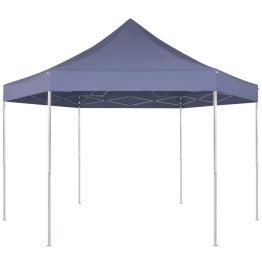 Marchiza pliabila hexagonala, 3,6 x 3,1 m, albastru inchis