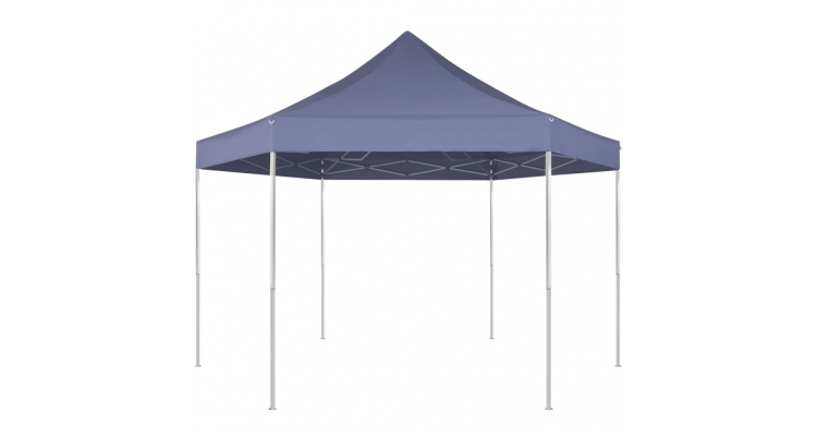 Marchiza pliabila hexagonala, 3,6 x 3,1 m, albastru inchis poza kivi.ro