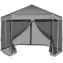 Marchiza pliabila hexagonala, 6 pereti laterali 3,6x3,1 m, Gri