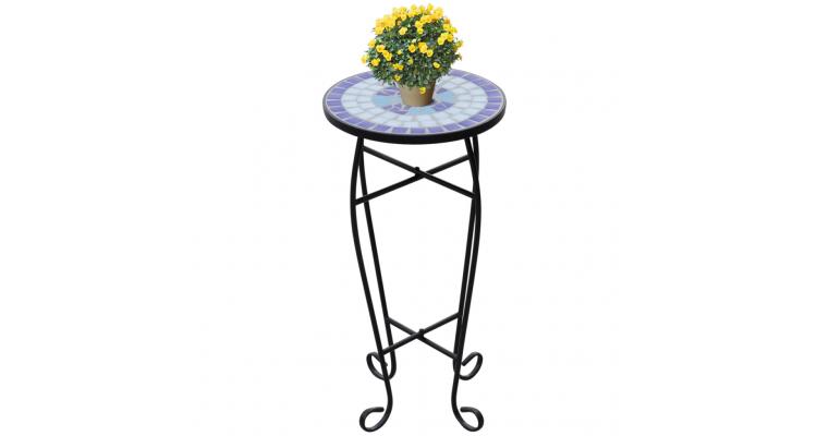 Masa cu blat ceramic, Albastru-Alb