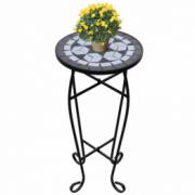 Masa cu blat ceramic, Alb-Negru
