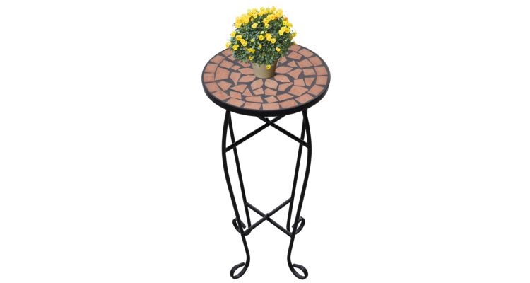 Masa cu blat ceramic, Rosu-portocaliu imagine 2021 kivi.ro