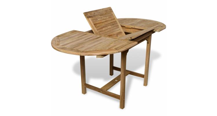 Masa extensibila de exterior din lemn de tec, (110-160)x80x75cm