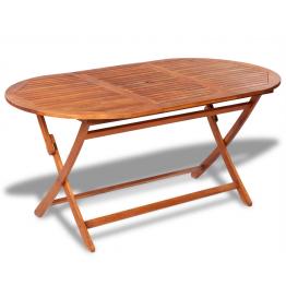 Masa ovala din lemn pentru exterior