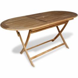 Masa pentru exterior din lemn de tec, 160 x 80 x 75 cm