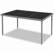 Masa pentru exterior, 150 x 90 x 74 cm, negru