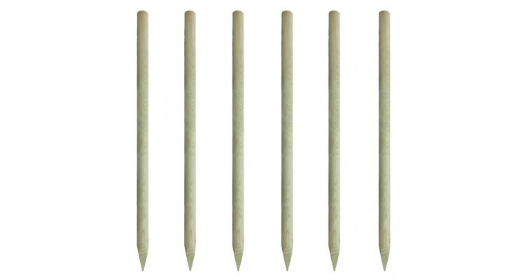 tarusi din lemn pentru gard 200 cm, 6 buc