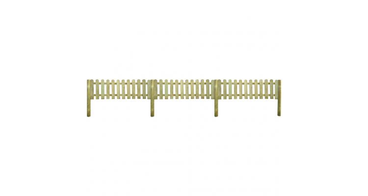Gard de lemn cu stalpi, 6 m lungime si 60 cm inaltime