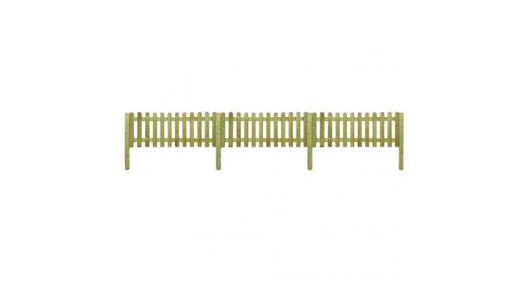 6 metri de gard din lemn cu stalpi, inaltime 80 cm