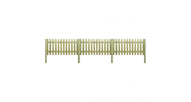 6 metri de gard din lemn cu stalpi, inaltime 100 cm