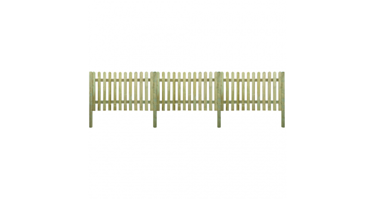 Gard Lemn Stalpi Poza