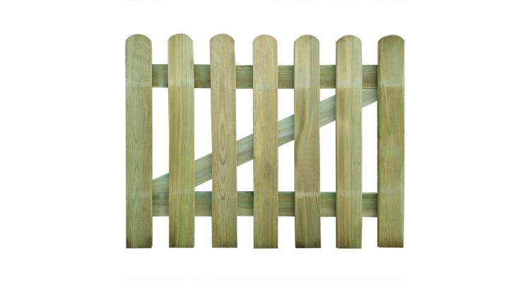 Poarta din lemn pentru gradina 100 x 80 cm