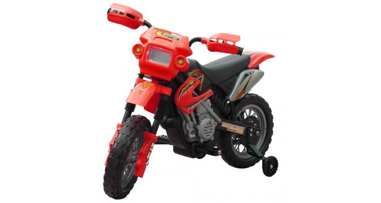 Motocicleta copii 2 km/h cu acumulator Rosu