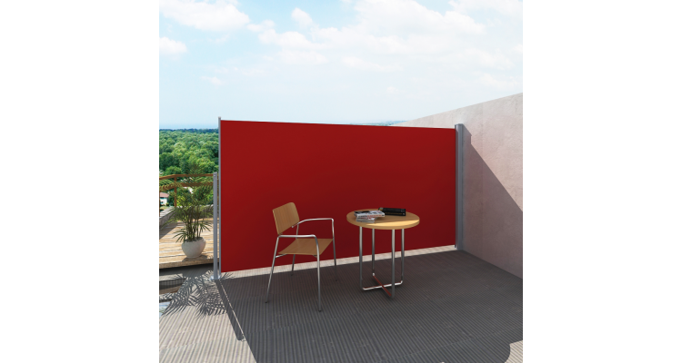 Panou separator glisant pentru terasa 160 x 300 cm, Rosu poza kivi.ro