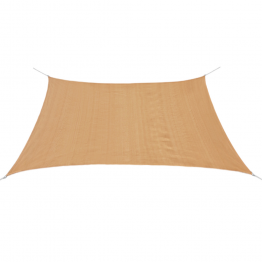 Panza parasolar din HDPE patrata, 3,6 x 3,6 m, bej