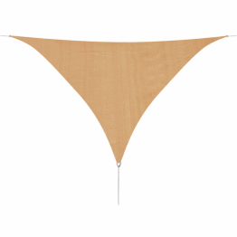 Panza parasolar din HDPE, triunghiulara 3,6 x 3,6 x 3,6 m, bej